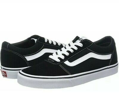 Vans Active MN Ward Black/White Suede Adult Trainers Shoes Size 6 UK