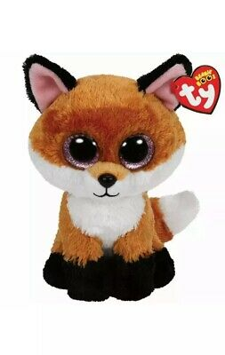 NEW MWMT 6 Inch Ty Beanie Boos ~ SLICK the Red Fox