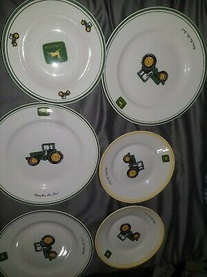 Lot Of 6 Gibson John Deere Plates And Bowls