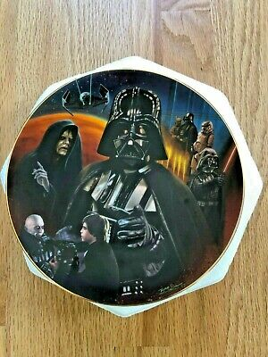 """Hamilton Collection Star Wars """"Darth Vader"""" Heroes and Villains Plate 1997"""