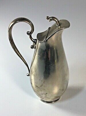 Mexican Sterling Silver Hand-Wrought Mid-Century Modern Pitcher