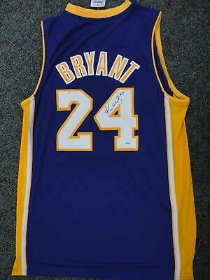 Kobe Bryant Autographed La Lakers Nba Finals Jersey Hand Signed With Coa Mint
