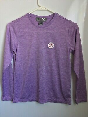 NWT White Sierra Youth M Insect Shield Repellent Shirt Lavender Purple Girls NEW