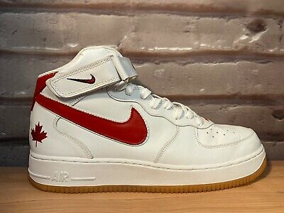 Nike Air Force 1 Mid Canada Maple Leaf 2004 Size 12 AF1 One 309955-161 RARE