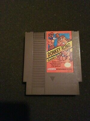 Donkey Kong Classics NES (1988) with manual Nintendo tested & works Authentic