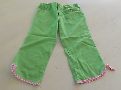 Lilly Pulitzer Girls Pants Adjustable Green Pink White Sz 6X