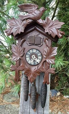 German Black Forest Cuckoo Clock Running Striking Project with Music Box