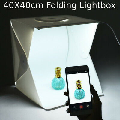Photography Studio 40CM LED Lighting Light Room Tent Kit +4x Backdrops IN A 8A