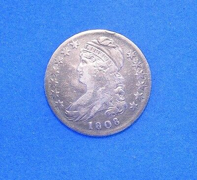 1808 Capped Bust Half Dollar vf Very Fine condition 50c Constitutional Silver