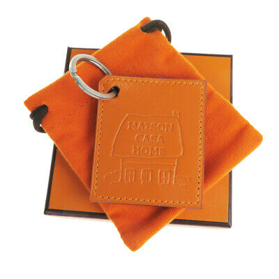 Auth Hermes MAISON CASA HOME Keyring (Orange) 07FA556