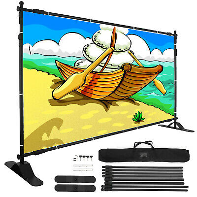 10' x 8' Backdrop Banner Stand Adjustable Telescopic For Trade Show