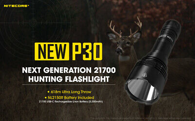 Nitecore New P30 1000 Lumens  618m beam distance for searching and hunting