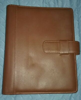 """LEATHER DAY-TIMER day planner 9.5"""" x 7.5"""" - 7 Ring 1.25"""" Chocolate Brown"""