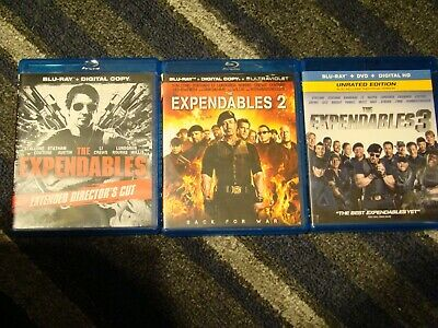 The Expendables 3 movie set 1 & 2 & 3 Blu-ray - Digital Codes Expired