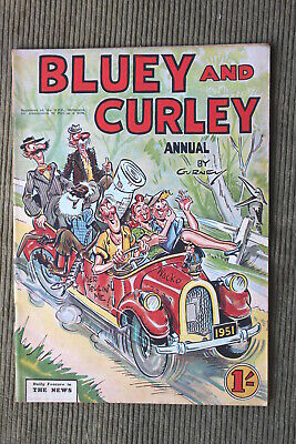 Vintage Australian BLUEY And CURLEY Comic - 1951 Annual By Gurney