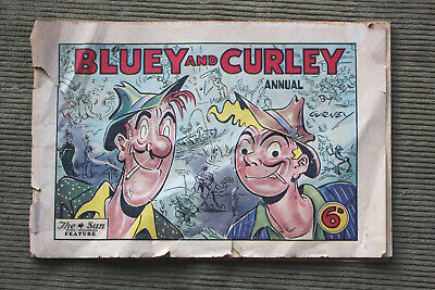 Vintage Australian BLUEY And CURLEY Comic 1949 Annual By Gurney