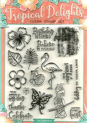 Tropical Delights Clear  Stamp Set.