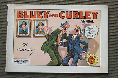 Vintage Australian BLUEY And CURLEY Comic - 1947 Annual By Gurney