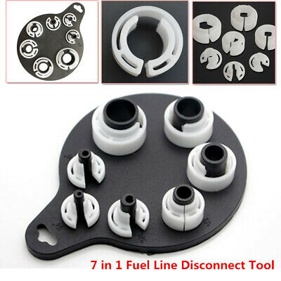 7in1 Strong Plastic Air Conditioning Fuel Oil Line Coupling Quick Disconnect Kit