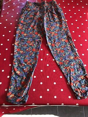 Girls Next Age 8 Floral Light Trousers