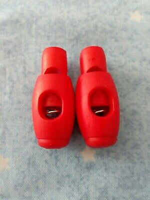 2 Red Spring Loaded Plastic Toggles