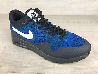 Nike Air Max 1 Flyknit, 843387-401, Blue & Black, Sz UK 3, EU 36, US 5.5.