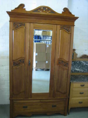Edwardian Bedroom Suite (Satin Walnut) - PRESTON
