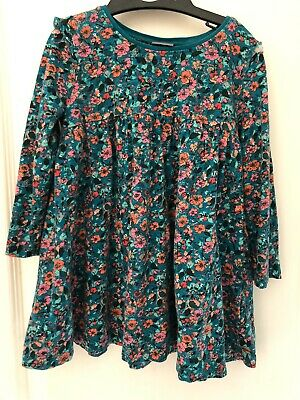 Next Baby Girl 18-24 Months green Floral Long Sleeved Dress