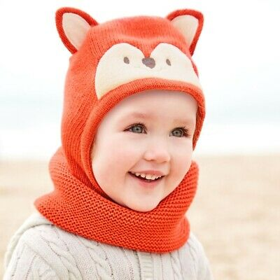 Jojo Maman Bebe Fox Hat Snood Boy Girl Baby 1-2 Years 12-18 Months 18-24 Months