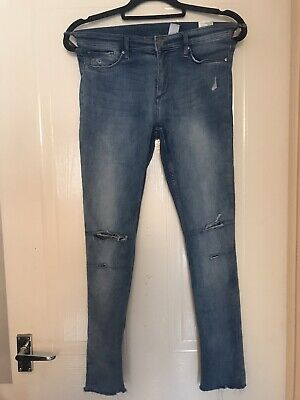 H&M Girls Skinny Ripped Jeans  Age 14 + Excellent Condition
