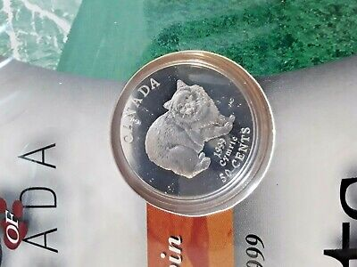 Cymric Cat - 1999 Canada 50 cent Proof Sterling Silver Coin