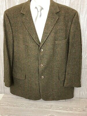 Bespoke Jos A Bank Mens Beige Taupe Windowpane Camel Hair Sport Coat 48R (t13)