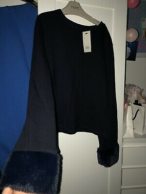 Navy Girls  River Island Top 9/10 Years Bnwt