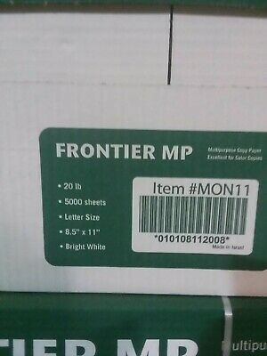frontier Multipurpose 5000 Sheets Printer Copy Paper White 8.5x11 Case