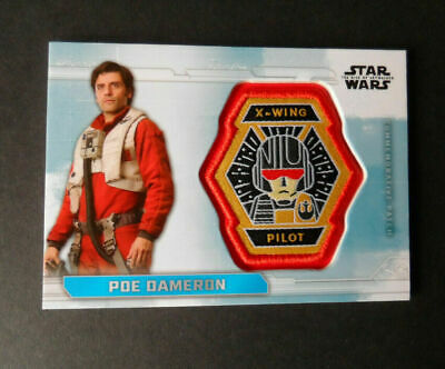 Poe Dameron    Pc-Xp  Topps Star Wars The Rise Of Skywalker Patch Cards