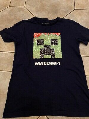 boys dark blue Minecraft t-shirt from Next age 8 years old