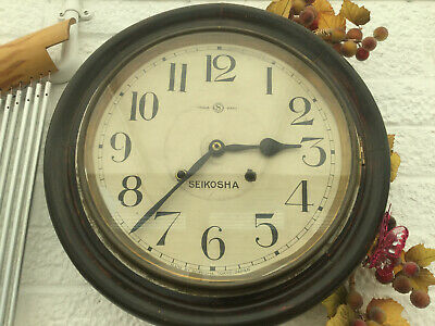 vintage seikosha wall clock 1935 showa era old seiko japan wood with key working