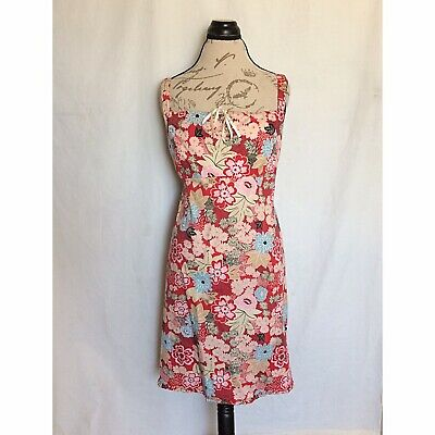 Motherhood Maternity Size XL Dress Floral Sleeveless Red Blue White Tied Ruffle