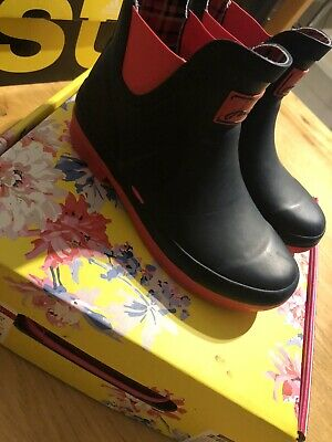 Joules Girls French Navy Wellibobs Size 13 Boxed Lovely Condition Wellies