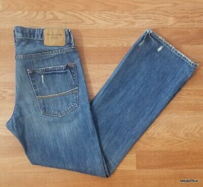 ~Nice!~ Men's Abercrombie & Fitch A&F BAXTER Low Rise Slim Boot Jeans 32 X 32