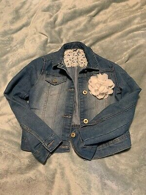 girls denim jacket age 9-10