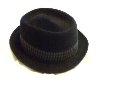 Dunn & Co...piccadilly circus pork pie vintage hat....7 1/8 size