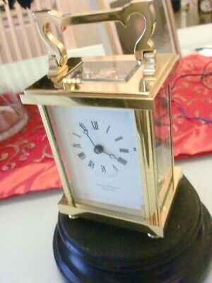 New  Top  English Carriage Clock 11 Jewel,Incabloc ,  By D.peterson With Key