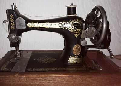 Faulty Antique 1917 Singer 28k Hand Cranked Sewing Machine
