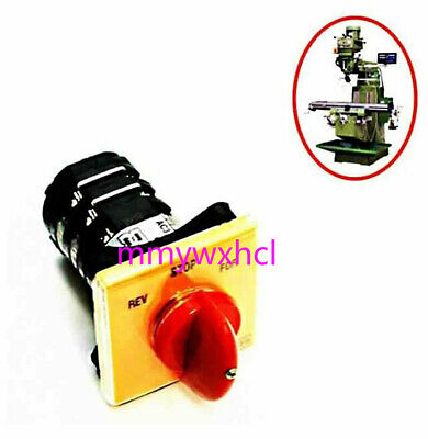 Bridgeport Milling Machine Parts - Forward Reverse 3 Phase Motor Mill Switch