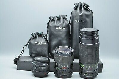 Vintage Lot of 3 Camera Lens RMC Tokina Doubler, 28-85mm 3.5-4.5, 50-250mm