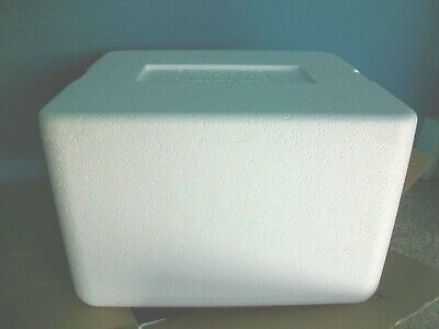 "Styrofoam Cooler Shipping Container Cool Box DURATHERM Insulated 15x13x9 "" LARGE"