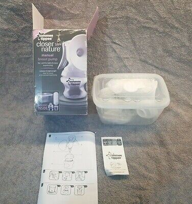 Tommee Tippee Closer to Nature Manual Breast Pump - White