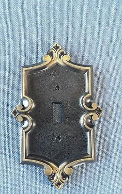 VTG Metal Switchplate Cover 1974 Mid Century Design