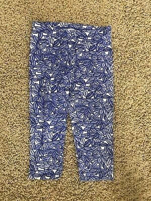 Girls Blue and White Leggings Size XL 14/16 by Cat & Jack; NWOT